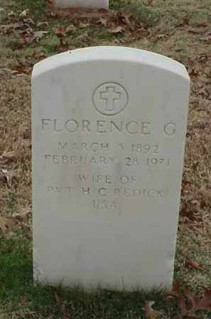 REDICK, FLORENCE G - Pulaski County, Arkansas | FLORENCE G REDICK - Arkansas Gravestone Photos