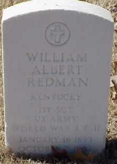 REDMAN  (VETERAN 2 WARS), WILLIAM ALBERT - Pulaski County, Arkansas | WILLIAM ALBERT REDMAN  (VETERAN 2 WARS) - Arkansas Gravestone Photos