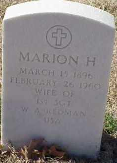REDMAN, MARION H. - Pulaski County, Arkansas | MARION H. REDMAN - Arkansas Gravestone Photos