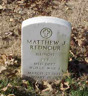 REDNOUR (VETERAN WWI), MATTHEW J - Pulaski County, Arkansas   MATTHEW J REDNOUR (VETERAN WWI) - Arkansas Gravestone Photos