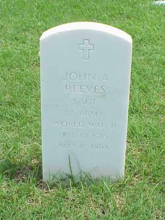 REEVES (VETERAN WWII), JOHN A - Pulaski County, Arkansas | JOHN A REEVES (VETERAN WWII) - Arkansas Gravestone Photos