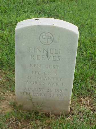 REEVES (VETERAN WWI), FINNELL - Pulaski County, Arkansas   FINNELL REEVES (VETERAN WWI) - Arkansas Gravestone Photos