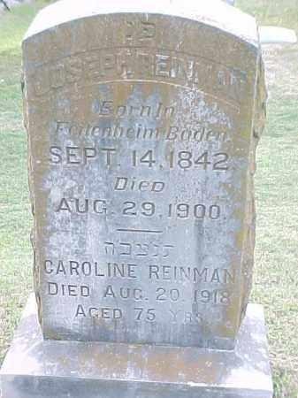REINMAN, CAROLINE - Pulaski County, Arkansas   CAROLINE REINMAN - Arkansas Gravestone Photos
