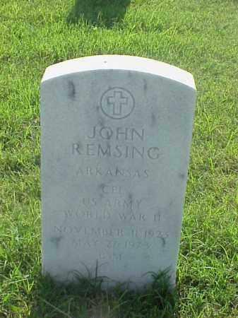 REMSING (VETERAN WWII), JOHN - Pulaski County, Arkansas | JOHN REMSING (VETERAN WWII) - Arkansas Gravestone Photos