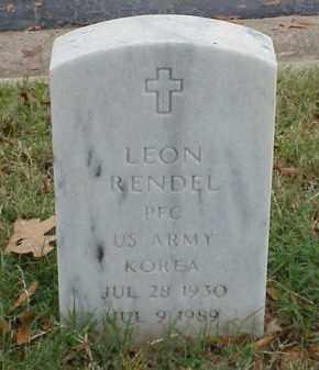 RENDEL (VETERAN KOR), LEON - Pulaski County, Arkansas | LEON RENDEL (VETERAN KOR) - Arkansas Gravestone Photos