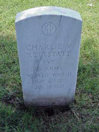 RETTSTATT (VETERAN WWII), CHARLIE V - Pulaski County, Arkansas | CHARLIE V RETTSTATT (VETERAN WWII) - Arkansas Gravestone Photos