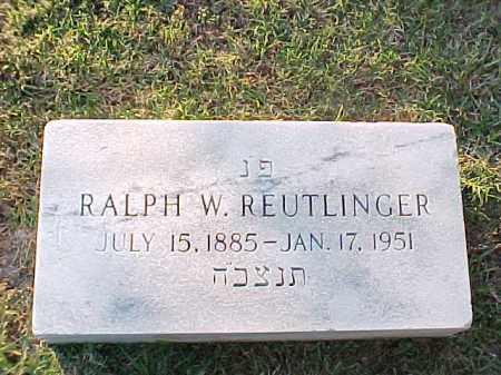 REUTLINGER, RALPH W - Pulaski County, Arkansas | RALPH W REUTLINGER - Arkansas Gravestone Photos