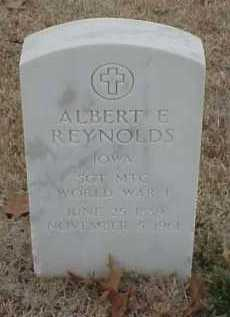 REYNOLDS  (VETERAN WWI), ALBERT E - Pulaski County, Arkansas | ALBERT E REYNOLDS  (VETERAN WWI) - Arkansas Gravestone Photos