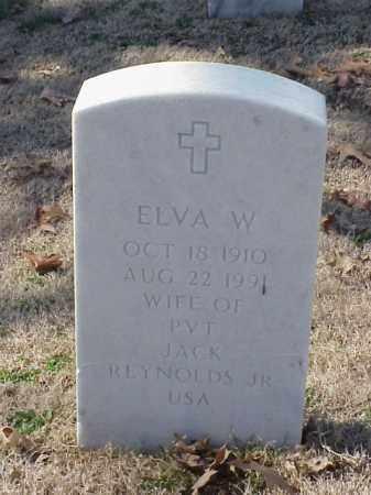 REYNOLDS, ELVA W - Pulaski County, Arkansas | ELVA W REYNOLDS - Arkansas Gravestone Photos