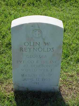 REYNOLDS (VETERAN WWI), OLIN W - Pulaski County, Arkansas | OLIN W REYNOLDS (VETERAN WWI) - Arkansas Gravestone Photos