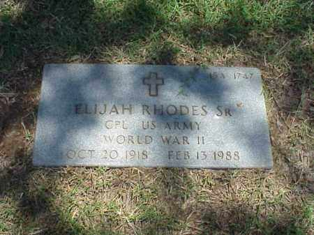 RHODES, SR (VETERAN WWII), ELIJAH - Pulaski County, Arkansas   ELIJAH RHODES, SR (VETERAN WWII) - Arkansas Gravestone Photos
