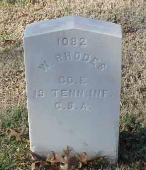RHODES (VETERAN CSA), W - Pulaski County, Arkansas | W RHODES (VETERAN CSA) - Arkansas Gravestone Photos