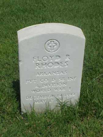 RHODES (VETERAN WWI), FLOYD R - Pulaski County, Arkansas | FLOYD R RHODES (VETERAN WWI) - Arkansas Gravestone Photos