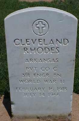 RHODES (VETERAN WWII), CLEVELAND - Pulaski County, Arkansas   CLEVELAND RHODES (VETERAN WWII) - Arkansas Gravestone Photos