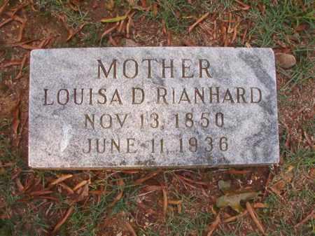 RIANHARD, LOUISA D - Pulaski County, Arkansas | LOUISA D RIANHARD - Arkansas Gravestone Photos