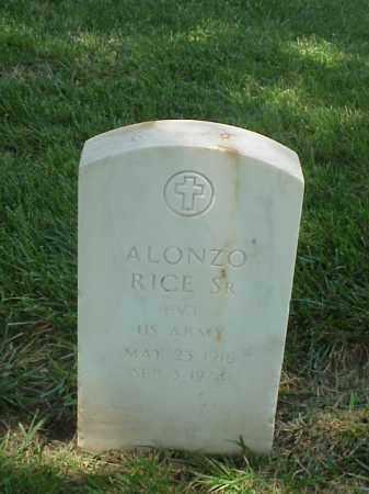 RICE, SR (VETERAN WWII), ALONZO - Pulaski County, Arkansas | ALONZO RICE, SR (VETERAN WWII) - Arkansas Gravestone Photos