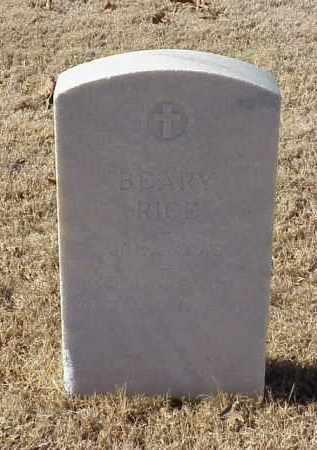 RICE (VETERAN WWI), BEARY - Pulaski County, Arkansas | BEARY RICE (VETERAN WWI) - Arkansas Gravestone Photos
