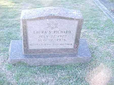 RICHARD, LAURA S - Pulaski County, Arkansas   LAURA S RICHARD - Arkansas Gravestone Photos