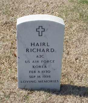 RICHARD (VETERAN KOR), HAIRL - Pulaski County, Arkansas | HAIRL RICHARD (VETERAN KOR) - Arkansas Gravestone Photos