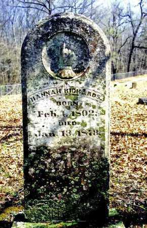 FLETCHER RICHARDS, HANNAH - Pulaski County, Arkansas | HANNAH FLETCHER RICHARDS - Arkansas Gravestone Photos