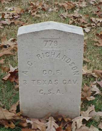 RICHARDSON (VETERAN CSA), A G - Pulaski County, Arkansas | A G RICHARDSON (VETERAN CSA) - Arkansas Gravestone Photos