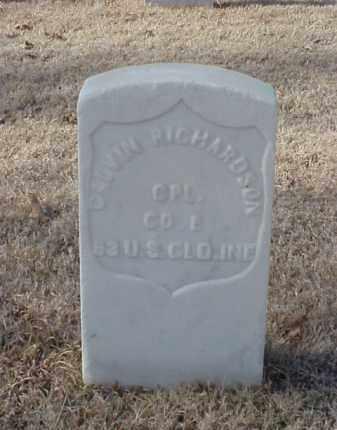 RICHARDSON (VETERAN UNION), CALVIN - Pulaski County, Arkansas | CALVIN RICHARDSON (VETERAN UNION) - Arkansas Gravestone Photos