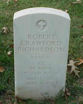 RICHARDSON (VETERAN WWI), ROBERT CRAWFORD - Pulaski County, Arkansas   ROBERT CRAWFORD RICHARDSON (VETERAN WWI) - Arkansas Gravestone Photos