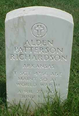 RICHARDSON (VETERAN WWII), ALDEN PATTERSON - Pulaski County, Arkansas | ALDEN PATTERSON RICHARDSON (VETERAN WWII) - Arkansas Gravestone Photos