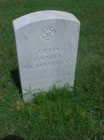 RICHARDSON (VETERAN WWII), FRED DANIEL - Pulaski County, Arkansas | FRED DANIEL RICHARDSON (VETERAN WWII) - Arkansas Gravestone Photos