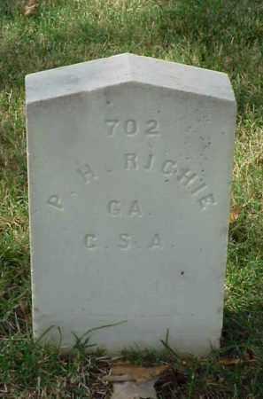 RICHIE (VETERAN CSA), P H - Pulaski County, Arkansas | P H RICHIE (VETERAN CSA) - Arkansas Gravestone Photos