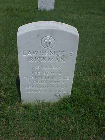 RICKMAN (VETERAN WWI), LAWRENCE E - Pulaski County, Arkansas | LAWRENCE E RICKMAN (VETERAN WWI) - Arkansas Gravestone Photos