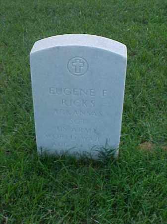 RICKS (VETERAN WWII), EUGENE F - Pulaski County, Arkansas | EUGENE F RICKS (VETERAN WWII) - Arkansas Gravestone Photos