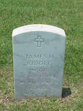 RIDDLE (VETERAN 2 WARS), JAMES H - Pulaski County, Arkansas | JAMES H RIDDLE (VETERAN 2 WARS) - Arkansas Gravestone Photos