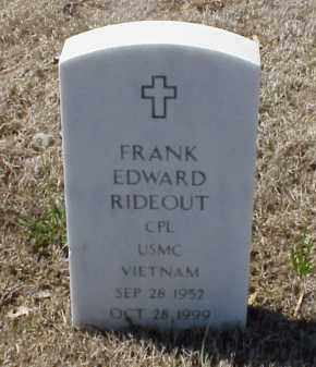 RIDEOUT (VETERAN VIET), FRANK EDWARD - Pulaski County, Arkansas   FRANK EDWARD RIDEOUT (VETERAN VIET) - Arkansas Gravestone Photos