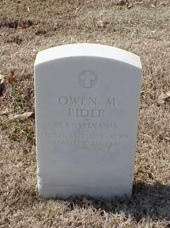 RIDER (VETERAN WWI), OWEN M - Pulaski County, Arkansas   OWEN M RIDER (VETERAN WWI) - Arkansas Gravestone Photos