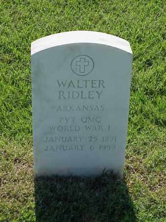 RIDLEY (VETERAN WWI), WALTER - Pulaski County, Arkansas | WALTER RIDLEY (VETERAN WWI) - Arkansas Gravestone Photos