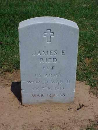 RIED (VETERAN WWII), JAMES E - Pulaski County, Arkansas   JAMES E RIED (VETERAN WWII) - Arkansas Gravestone Photos