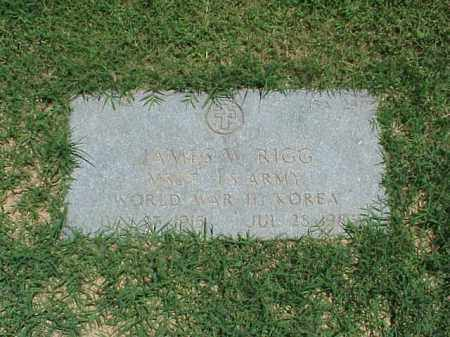 RIGG (VETERAN 2 WARS), JAMES W - Pulaski County, Arkansas | JAMES W RIGG (VETERAN 2 WARS) - Arkansas Gravestone Photos