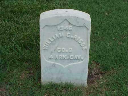 RIGGS (VETERAN UNION), WILLIAM C - Pulaski County, Arkansas | WILLIAM C RIGGS (VETERAN UNION) - Arkansas Gravestone Photos