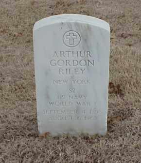 RILEY  (VETERAN WWI), ARTHUR GORDON - Pulaski County, Arkansas   ARTHUR GORDON RILEY  (VETERAN WWI) - Arkansas Gravestone Photos
