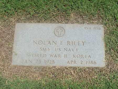 RILEY (VETERAN 2 WARS), NOLAN E - Pulaski County, Arkansas | NOLAN E RILEY (VETERAN 2 WARS) - Arkansas Gravestone Photos