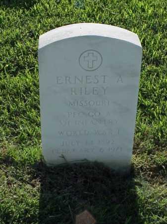 RILEY (VETERAN WWI), ERNEST A - Pulaski County, Arkansas | ERNEST A RILEY (VETERAN WWI) - Arkansas Gravestone Photos