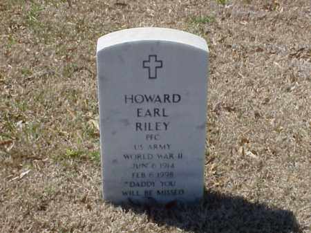 RILEY (VETERAN WWII), HOWARD EARL - Pulaski County, Arkansas | HOWARD EARL RILEY (VETERAN WWII) - Arkansas Gravestone Photos