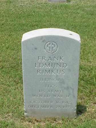 RIMKUS (VETERAN WWII), FRANK EDMUND - Pulaski County, Arkansas   FRANK EDMUND RIMKUS (VETERAN WWII) - Arkansas Gravestone Photos