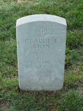 RION (VETERAN WWII), CLAUDE L - Pulaski County, Arkansas | CLAUDE L RION (VETERAN WWII) - Arkansas Gravestone Photos
