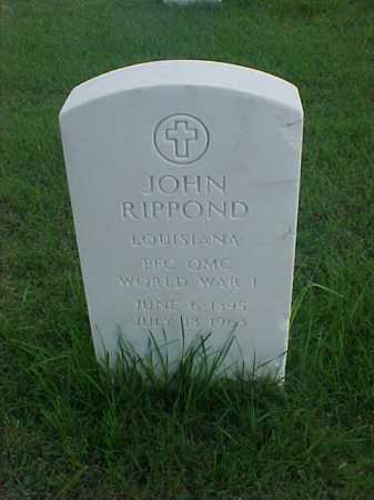 RIPPOND (VETERAN WWI), JOHN - Pulaski County, Arkansas   JOHN RIPPOND (VETERAN WWI) - Arkansas Gravestone Photos