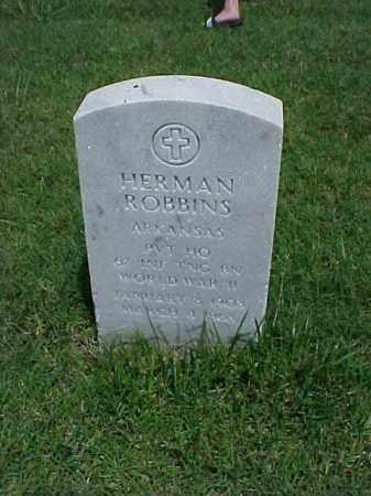 ROBBINS (VETERAN WWII), HERMAN - Pulaski County, Arkansas | HERMAN ROBBINS (VETERAN WWII) - Arkansas Gravestone Photos