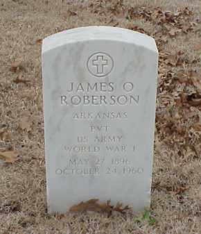 ROBERSON  (VETERAN WWI), JAMES O - Pulaski County, Arkansas | JAMES O ROBERSON  (VETERAN WWI) - Arkansas Gravestone Photos