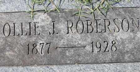 ROBERSON, OLLIE J. - Pulaski County, Arkansas | OLLIE J. ROBERSON - Arkansas Gravestone Photos