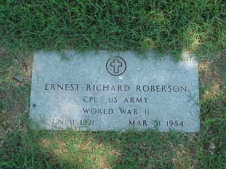 ROBERSON (VETERAN WWII), ERNEST RICHARD - Pulaski County, Arkansas   ERNEST RICHARD ROBERSON (VETERAN WWII) - Arkansas Gravestone Photos